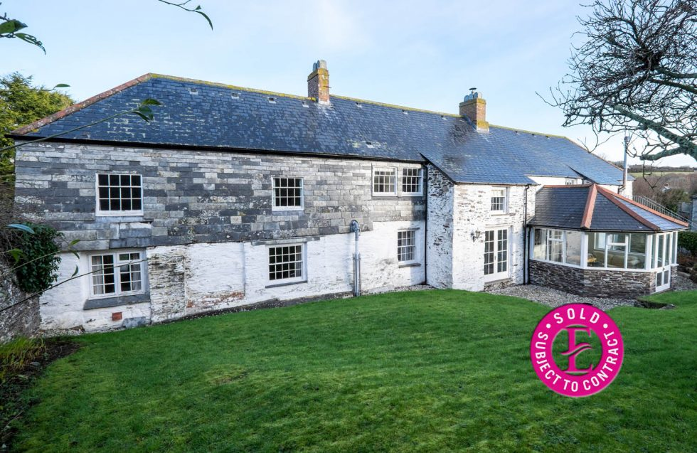 THE FARMHOUSE & THE FARMHOUSE BARN, Roserrow, St Minver – SOLD STC
