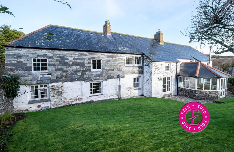 THE FARMHOUSE & THE FARMHOUSE BARN, Roserrow, St Minver – SOLD